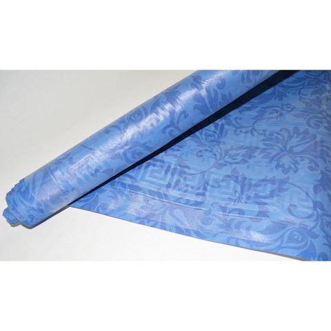 Скатерть одноразовая Vitto Prestige бумажная с полимерным покрытием в рулоне 120 см x 7 м синяя