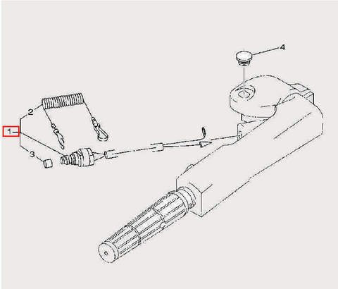 Кнопка остановки двигателя_для лодочного мотора F9,9 Sea-PRO (14-1)