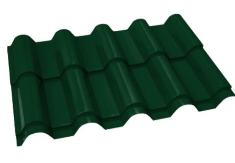 Металлочерепица Банга Полиэстер RAL 6005 Зеленый мох