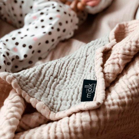 Муслиновое одеяло Mjölk Пыльный розовый