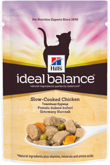 Пауч для кошек Hill's Ideal Balance Feline Adult, с томленой курицей
