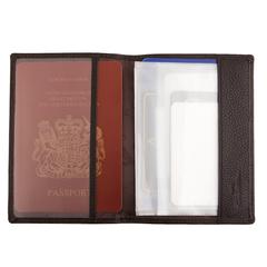 Кожаная обложка для паспорта и авто Giorgio Ferretti 00018-9 coffee GF