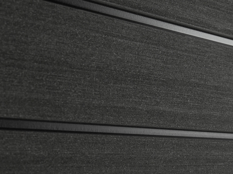 Профиль ДПК для заборов - SW Agger. Цвет черный.