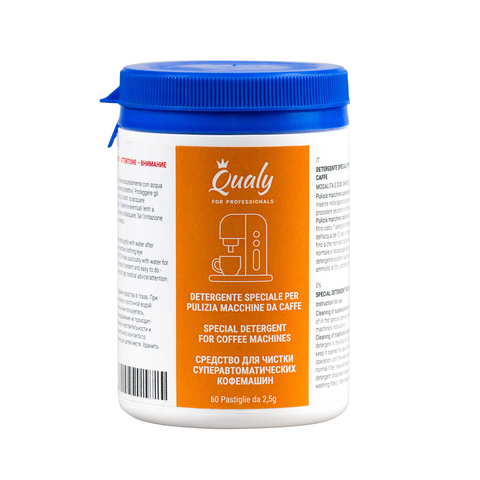 Qualy, Чистящее средство для автоматических кофемашин (60 таблеток по 2.5 г)