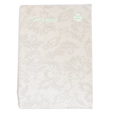 Скатерть одноразовая Vitto Prestige бумажная с полимерным покрытием 120x180 см белая