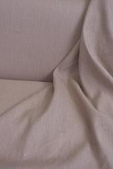 Лен с вискозой смягченный, цвет темно-лососевый