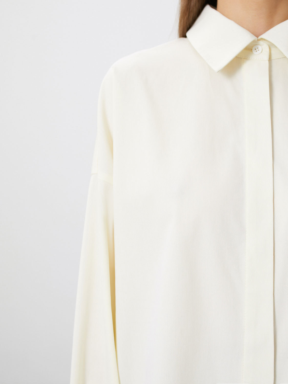Рубашка Arwen объёмная с карманом, Молочный