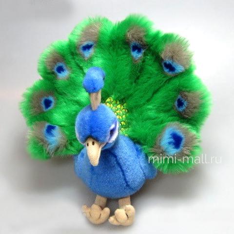 Мягкая игрушка Павлин 24 см (Leosco)