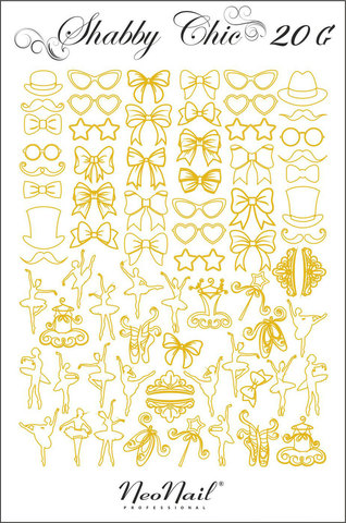 Трафарет для дизайна Shabby Chic 20 золото