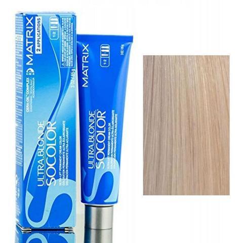 Matrix socolor beauty крем краска для волос экстра блонд,  UL-Nv+ натуральный перламутровый +