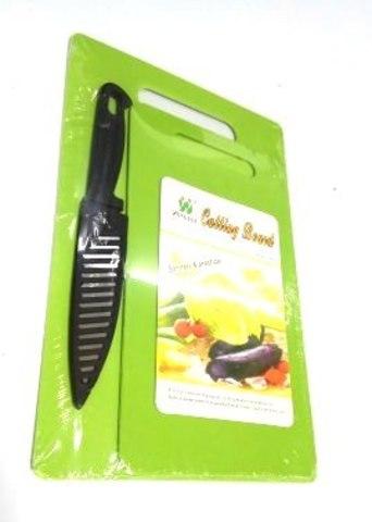 Доска разделочная пластик 2 шт + нож