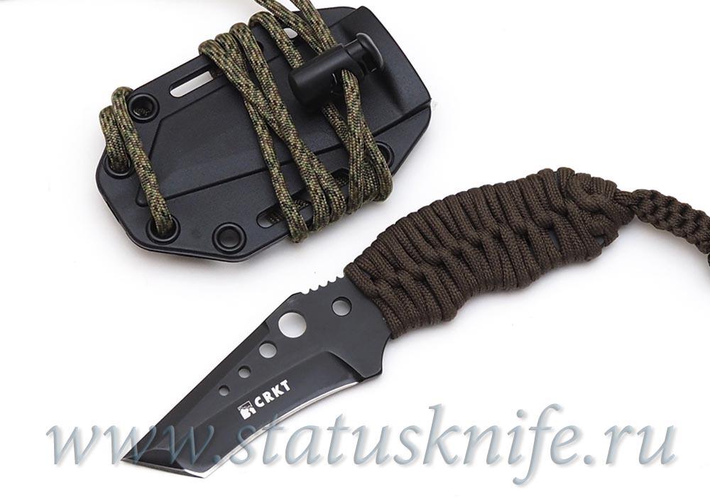 Нож CRKT Crawford N.E.C.K. fixed green cord - фотография