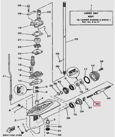 Пружина компрессионная для лодочного мотора F5 Sea-PRO(18-38)