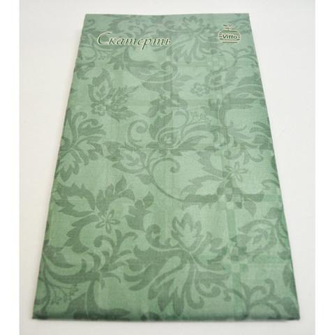 Скатерть одноразовая Vitto Prestige бумажная с полимерным покрытием 120x180 см зеленая