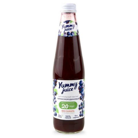 Нектар черносмородиновый без сахара Yummy, 330мл