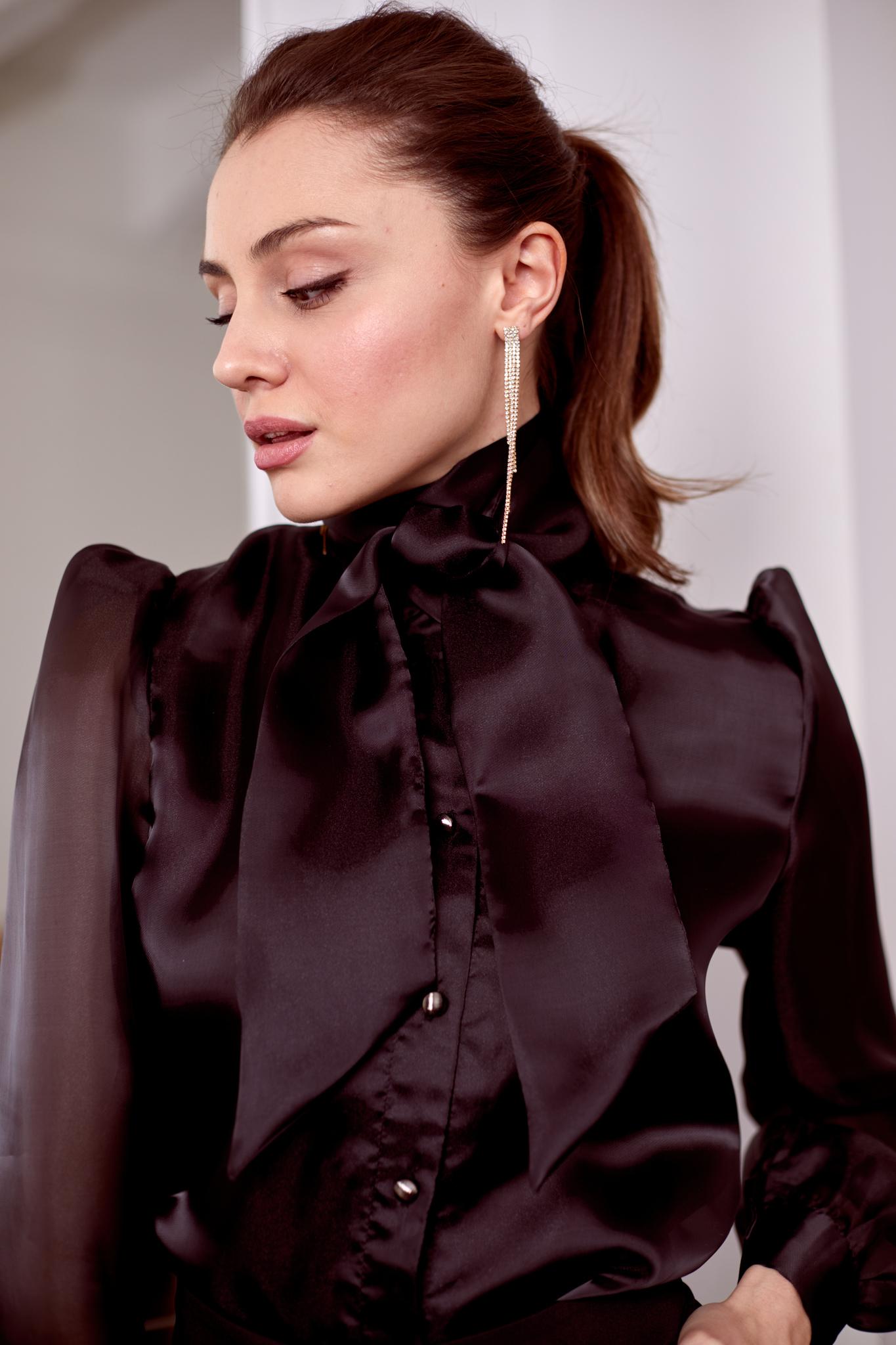 Блуза из органзы (черный)