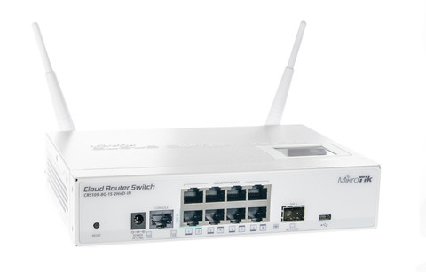 Коммутатор Cloud Router Switch Mikrotik CRS109-8G-1S-2HnD-IN (RouterOS L5)
