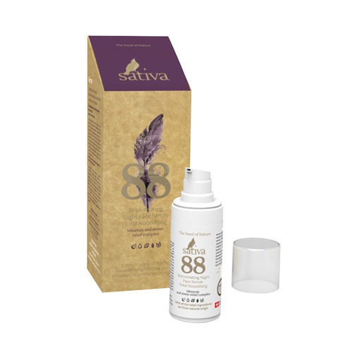 Сыворотка для лица омолаживающая ночная №88 Комплексное питание Sativa, 20 мл