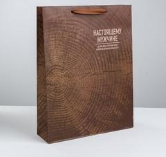 Пакет крафтовый вертикальный «Нереальных высот», L 31 × 40 × 9 см