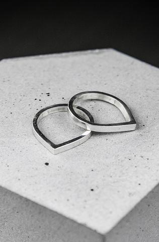 Кольцо «Капля»