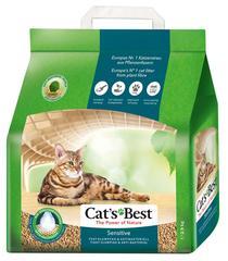 Древесный наполнитель для кошачьего туалета Cat's Best Sensitive, комкующийся