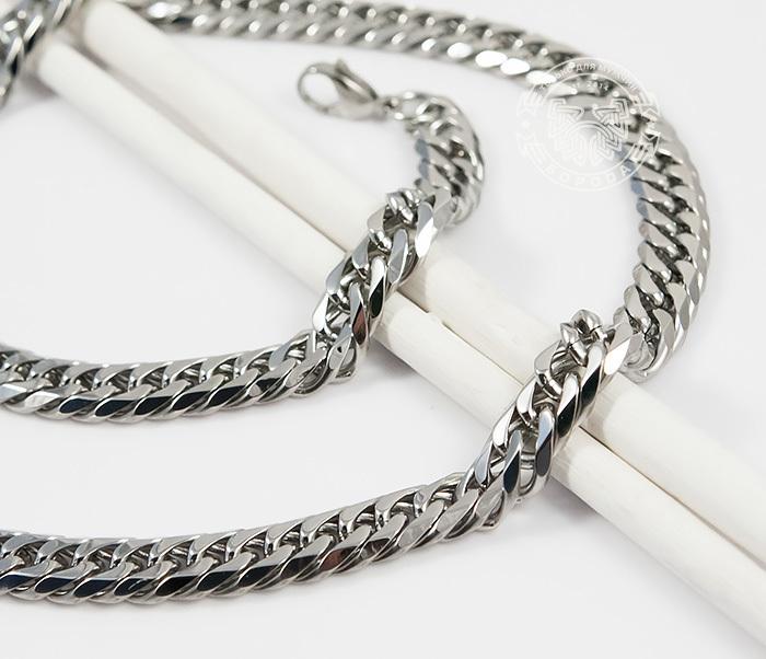 PM241 Стильная мужская цепочка из ювелирной стали (58 см) фото 03