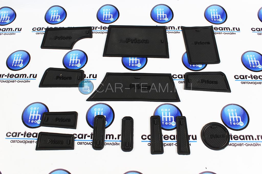 Комплект ковриков панели приборов и консоли на Лада Приора 2