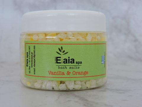 Морская соль для ванны c ароматом ванили и апельсина ElaiaSpa