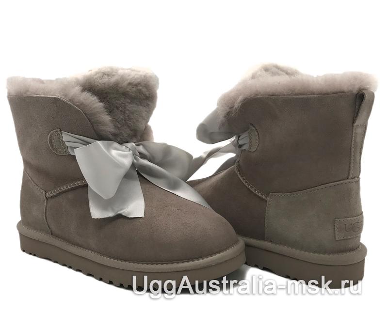 UGG Gita Bow Mini Boot Smoky