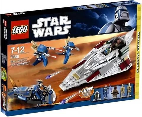 LEGO Star Wars: Звездный истребитель Джедая Мейса Винду 7868 — Mace Windu's Jedi Starfighter — Лего Звездные войны Стар Ворз