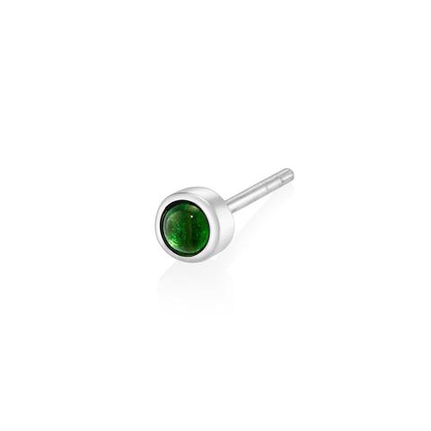 Моносерьга BETA - Зеленый турмалин