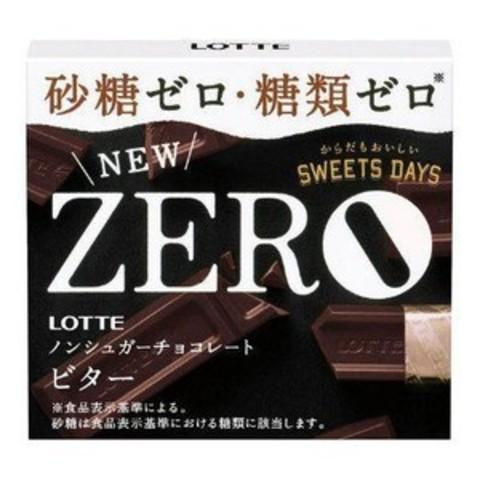 Шоколад Лотте Lotte ZERRO Горький без сахара для диабетиков 50г