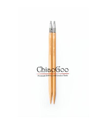 Спицы ChiaoGoo съемные бамбуковые  13 см 4мм
