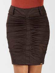 2056-1 юбка коричневая