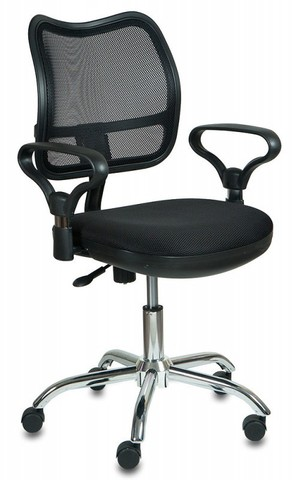 спинка сетка черный сиденье черный TW-11 крестовина хром