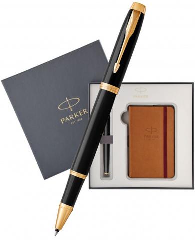 Подарочный набор: Блокнот и Ручка роллер Parker IM Black GT