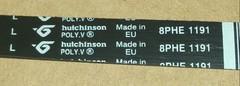 Ремень 1191 H8 (1116mm) для стиральных машин Ariston, Indesit и др.