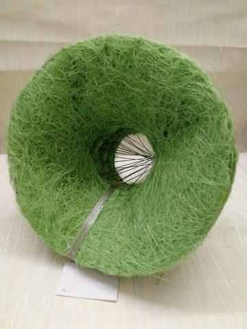 Каркас для букета гладкий (сизаль, диаметр: 15 см) Цвет: зеленое яблоко