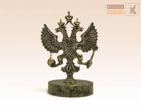 фигурка Герб России средний на змеевике