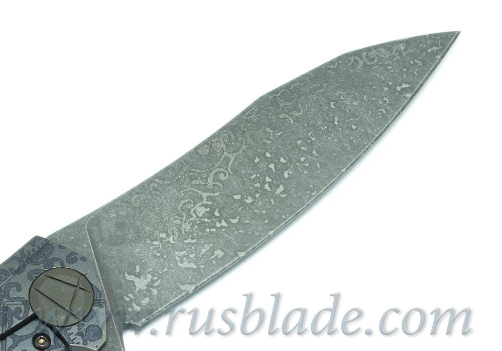 CKF Asymmetric midi CUSTOM SKULL (Alexey Konygin design, S90V, titanium, CF)