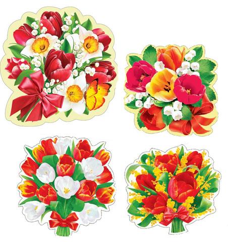 Печать на сахарной бумаге, Набор Цветы 13