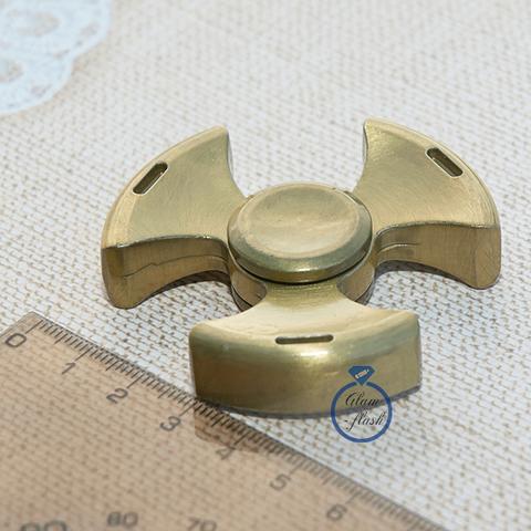 Спиннер металлический с тремя лепестками цвет золото 17009M_gold