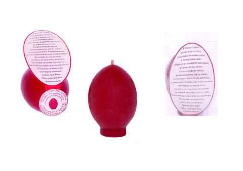 Свеча яйцо красное