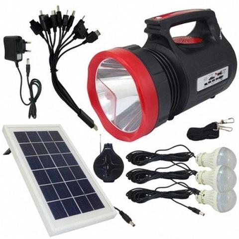 Ф.аккумуляторный ручной YJ-1908T, 20W+24SMD, power bank, радио, mp3 плеер, лампы, солнечная система