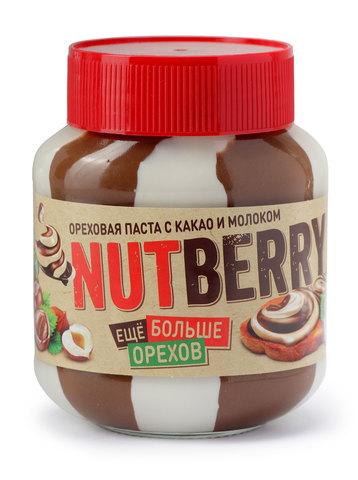 NUTBERRY Ореховая паста с добавлением какао и молока 350г