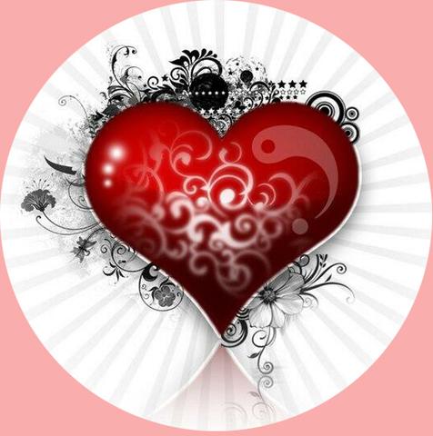 Печать на сахарной бумаге, День Влюбленных 15