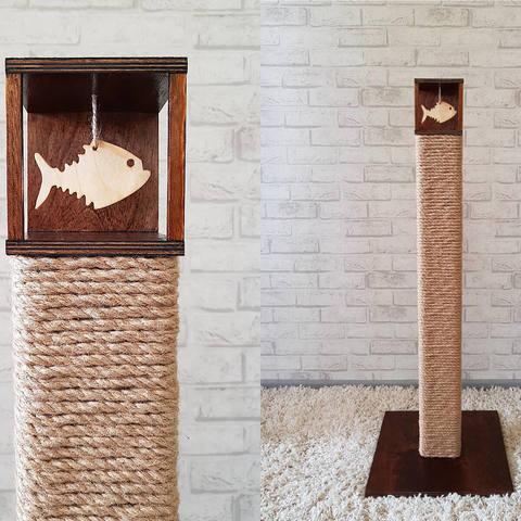 Высокая когтеточка-столбик для крупных пород кошек и котов