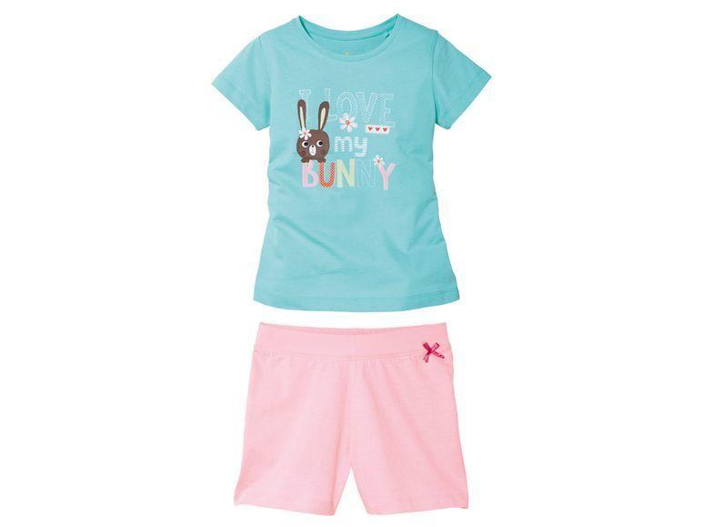 Комплект для девочки шорты + футболка Lupilu