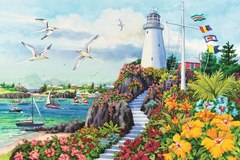 Картина раскраска по номерам 40x50 Дорога к маяку
