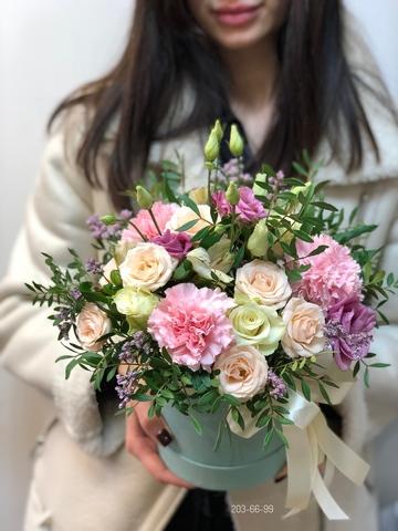 Цветы в шляпной коробке #1883